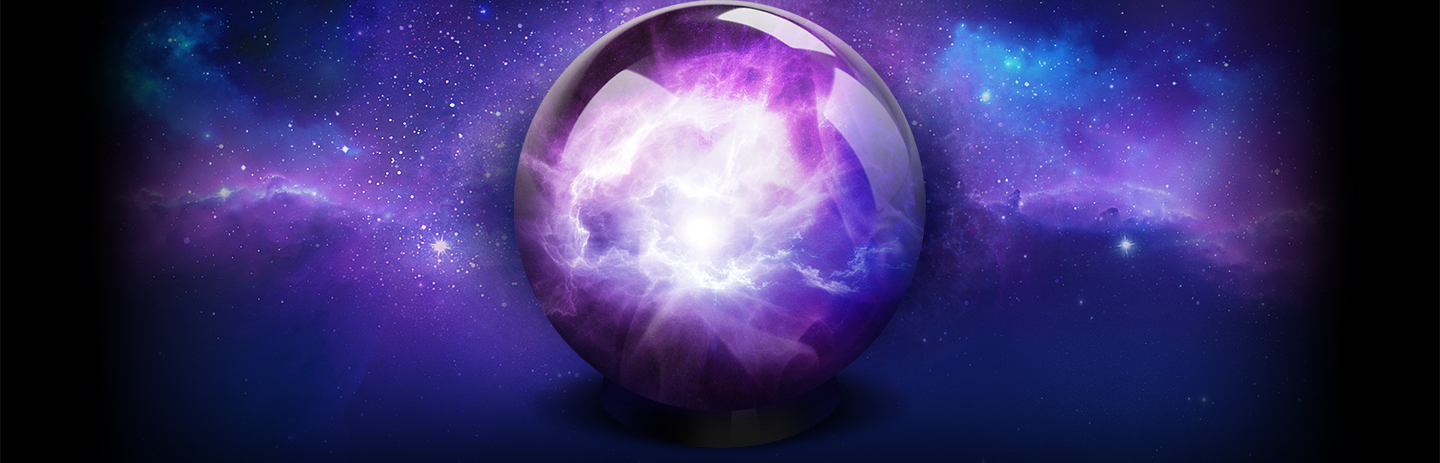 Oracle crystal ball, shining among the stars